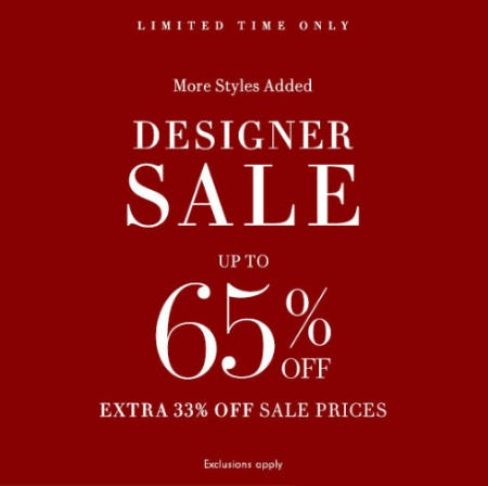 Up to 65% Off Designer Sale from Neiman Marcus