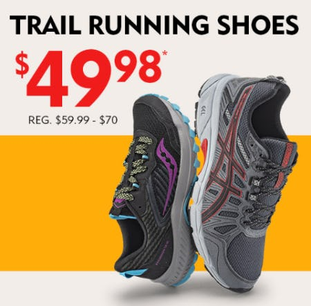 Trail Running Shoes at $49.98 from Shoe Carnival