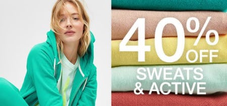 40% Off Sweats & Active from Gap