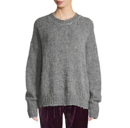 Helmut Lang Brushed Wool-Blend Crewneck Sweater from Neiman Marcus