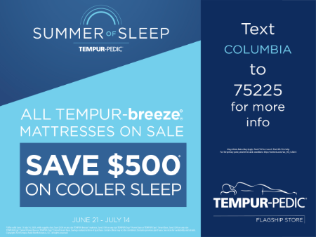 All TEMPUR-breeze Mattresses on Sale - Save $500 on cooler sleep from Tempur-Pedic