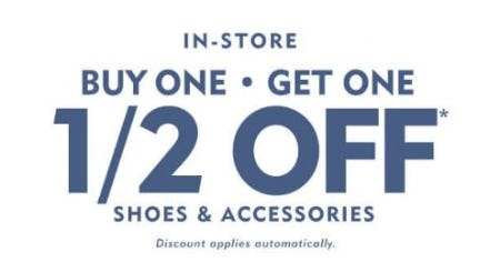 BOGO 1/2 Off Shoes & Accessories