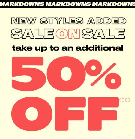 Additional 50% Off Sale from PacSun