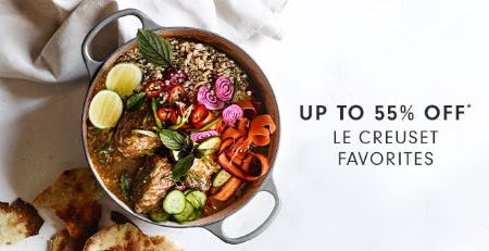 Up to 55% Off Le Creuset Favorites from Williams-Sonoma