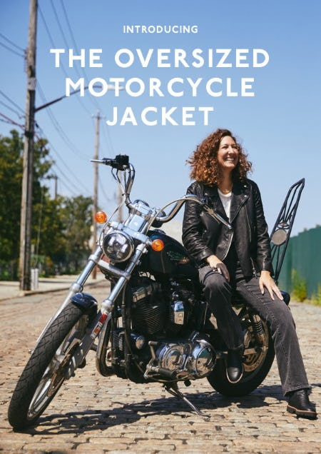 Introducing: The Oversized Motorcycle Jacket from Madewell