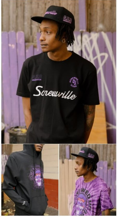 The Mitchell and Ness x DJ Screw Collection from DTLR
