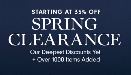 Starting at 35% Off Spring Clearance from Williams-Sonoma