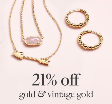 21% Off on Gold & Vintage Gold from Kendra Scott
