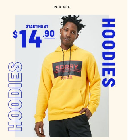 Hoodies Starting at $14.90
