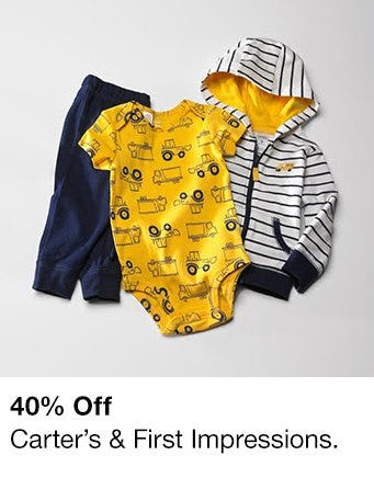 40% Off Carter's & First Impressions from macy's