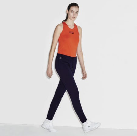 Women's Lacoste Sport Tennis Fleece Trackpants from Lacoste