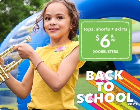 Tops, Shorts & Skirts $6 & Up Doorbusters from Carter's