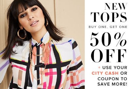 New Tops Buy One, Get One 50% Off