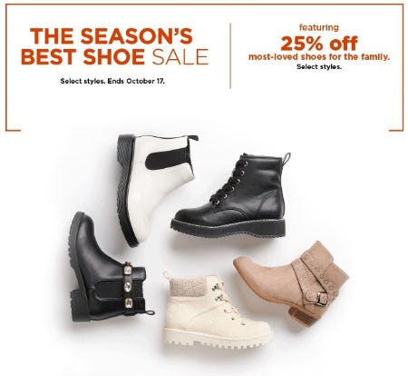 25% Off Most-Loved Shoes for the Family from Kohl's