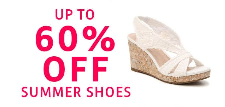 Up to 60% Off Summer Shoes from Stein Mart