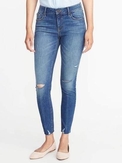 Mid-Rise Built-In Sculpt Rockstar Ankle Jeans for Women from Old Navy
