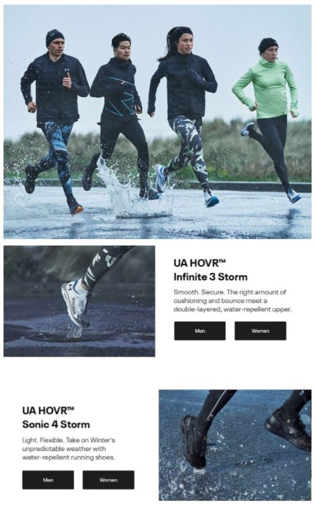 New UA HOVR Storm Running Shoes from Under Armour