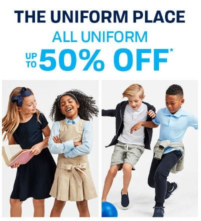 All Uniform up to 50% Off from The Children's Place