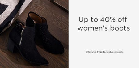 Up to 40% Off Women's Boots from Sears