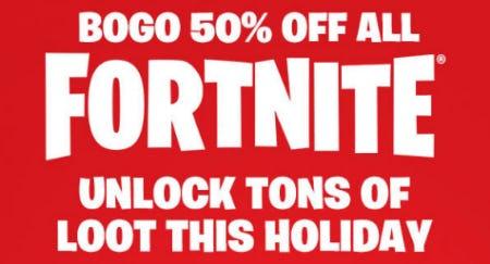 BOGO 50% Off All Fortnite from Spencer's Gifts