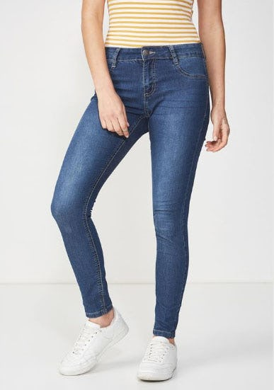 Mid Rise Jegging from Cotton On