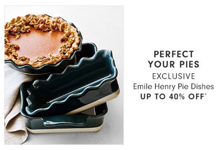 Emile Henry Pie Dishes up to 40% Off from Williams-Sonoma