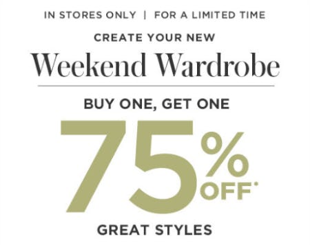 BOGO 75% Off Great Styles from Motherhood Maternity