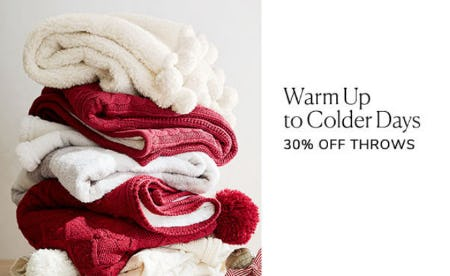 30% Off Throws from Pottery Barn