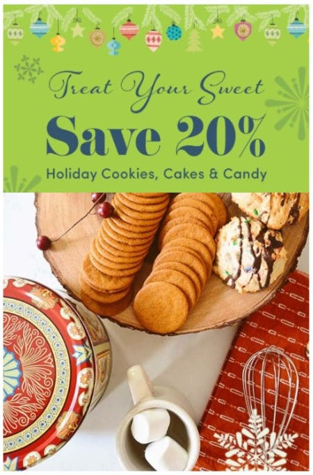 20% Off Holiday Cookies, Cakes & Candy from Cost Plus World Market