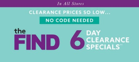 6 Day Clearance Specials from Lord & Taylor