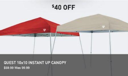 $40 Off Quest 10x10 Instant Up Canopy & Chapel Hills Mall | $40 Off Quest 10x10 Instant Up Canopy