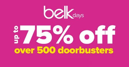 Up to 75% Off Doorbusters from Belk Store