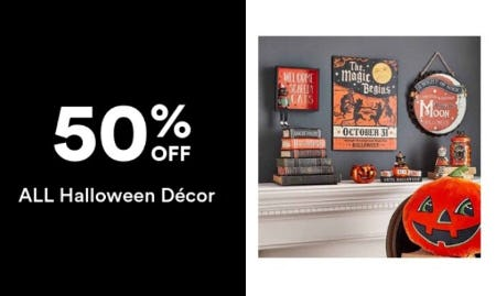 50% Off All Halloween Decor from Michaels