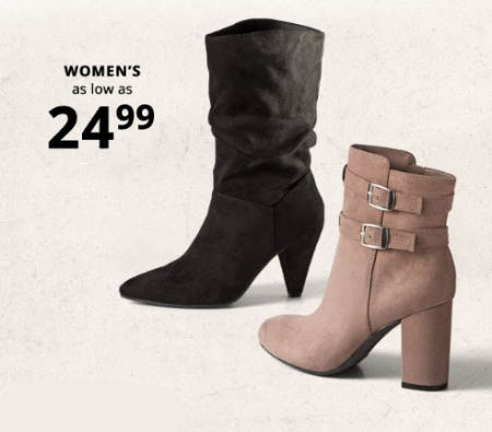 Women's As Low as $24.99 from Payless Kids