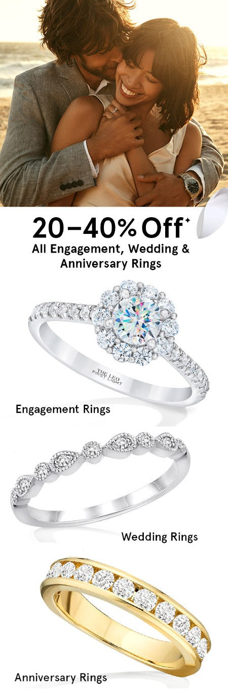 20-40% Off All Engagement, Wedding & Anniversary Rings from Kay Jewelers