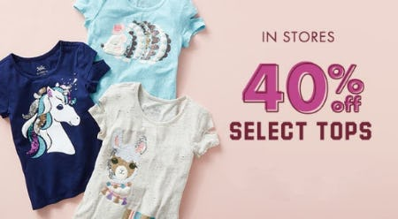 40% Off Select Tops