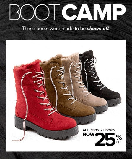 All Boots & Booties 25% Off