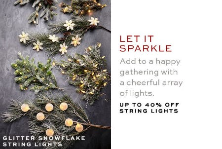 Up to 40% Off String Lights from Pottery Barn
