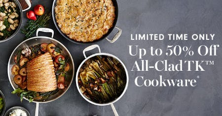 Up to 50% Off All-Clad TK Cookware from Williams-Sonoma