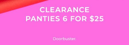 Clearance Panties 6 for $25