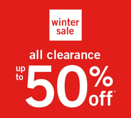 Up to 50% Off Winter Sale