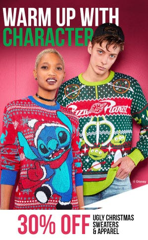 30% Off Ugly Christmas Sweaters & Apparel at Spencer Gifts ...