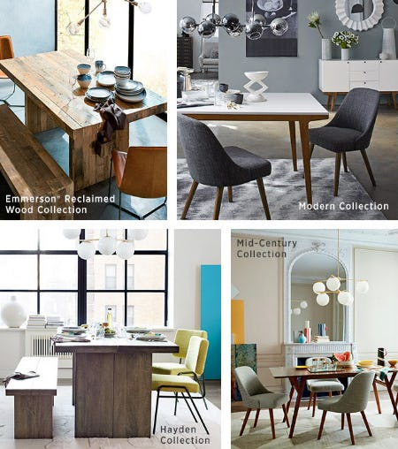 Our Dining Collections from West Elm