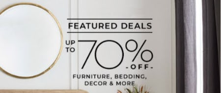 Up to 70% Off Furniture, Bedding, Decor & More from Pottery Barn