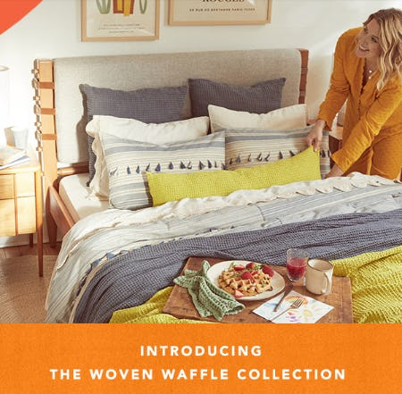 Introducing the Woven Waffle Collection from Anthropologie