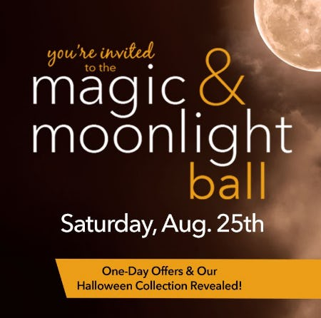 Save the Date! You're invited to the magic & moonlight ball from Yankee Candle