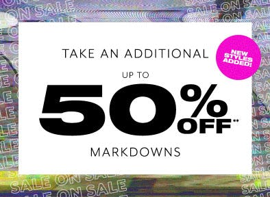Additional Up to 50% Off Markdowns from PacSun