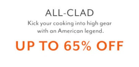 Up to 65% Off All-Clad