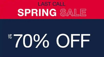 Spring Sale up to 70% Off