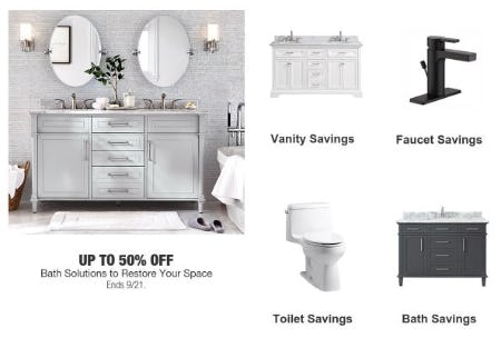 Up to 50% Off Bath Solutions